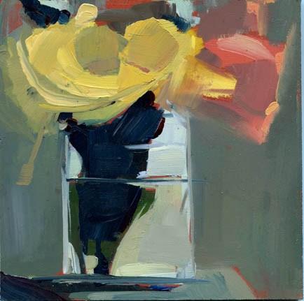 """#1069 Chrysanthemum (maybe) on the Sill (definitely)"" original fine art by Lisa Daria"