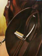 """Saddle Up"" original fine art by Donna Thomas"