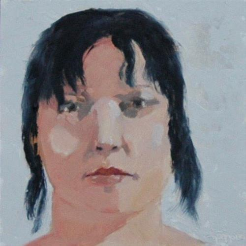 """FACE No. 119"" original fine art by Linda Popple"