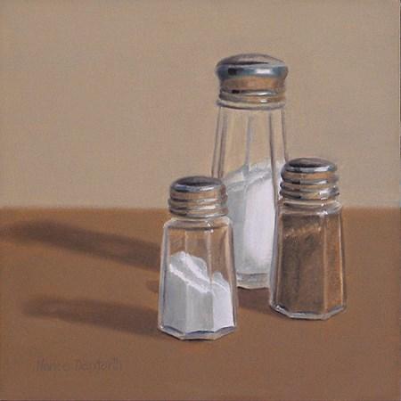 """Salt & Pepper Shakers II"" original fine art by Nance Danforth"