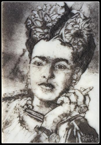 """Frida Kahlo, Tragic Women in the Arts Series"" original fine art by Kelly Alge"