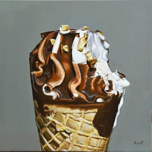 """I only took one bite"" original fine art by Kim Testone"