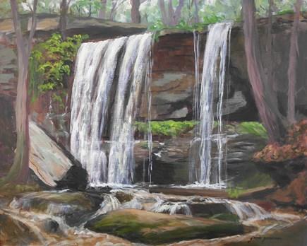 """After the Rain at the Falls"" original fine art by Jamie Williams Grossman"