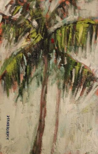 """""""Florida Palms, Contemporary Landscape Paintings by Arizona Artist Amy Whitehouse"""" original fine art by Amy Whitehouse"""