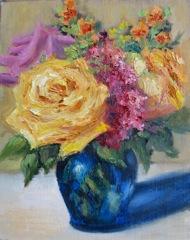 """""""Small Rose Bouquet"""" original fine art by Pat Fiorello"""