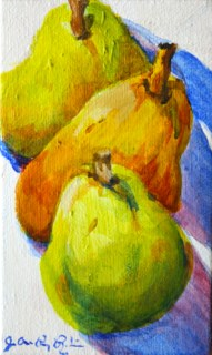 """""""One Pair and Three pears"""" original fine art by JoAnne Perez Robinson"""