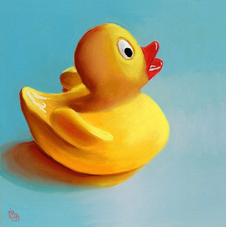 """""""rubber ducky painting"""" original fine art by Ria Hills"""
