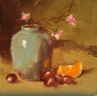 """new pot"" original fine art by Carol Carmichael"