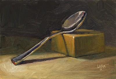 """Spoon on Block"" original fine art by Raymond Logan"
