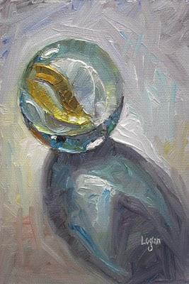 """Marble Yellow White"" original fine art by Raymond Logan"