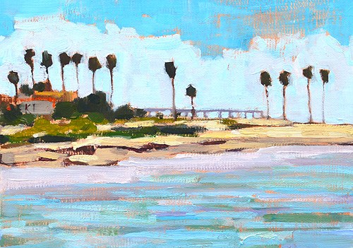 """Ocean Beach, San Diego Painting"" original fine art by Kevin Inman"