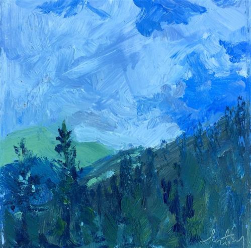"""Cloud Play"" original fine art by kay  keyes farrar"