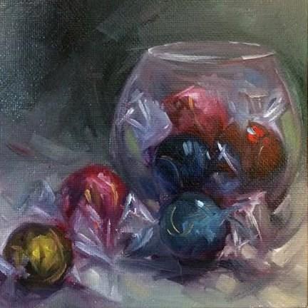 """""""Candy & Glass Bowl"""" original fine art by Elaine Juska Joseph"""