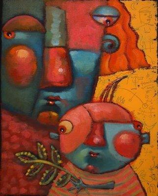 """Teach Your Parents Well"" original fine art by Brenda York"