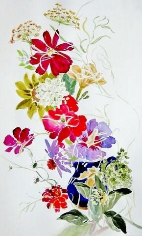"""Rose Of Sharon"" original fine art by Priscilla Bohlen"