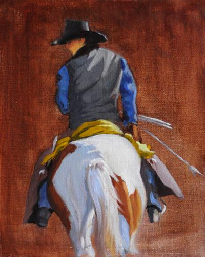 """Cowboy Study"" original fine art by Susan Matteson"