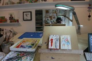 """My new Paint On easel, LOVE it!"" original fine art by JoAnne Perez Robinson"