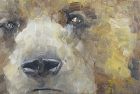 """Bear Faced Beauty"" original fine art by Gigi ."