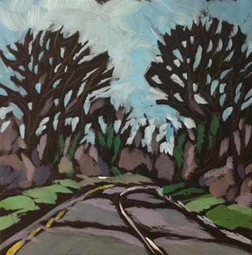 """Irish Road Curves"" original fine art by Kat Corrigan"