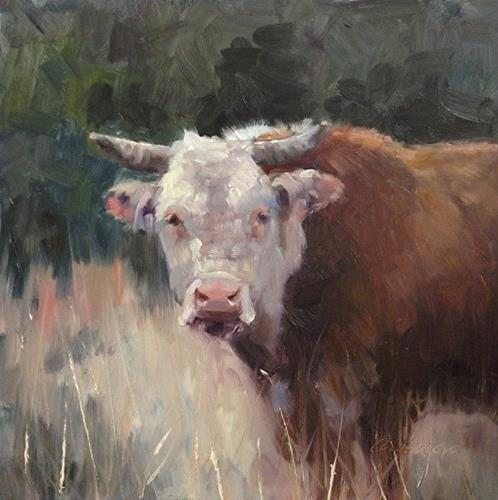 """No bulling around"" original fine art by Charlotte Cox"