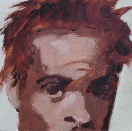 """""""FACE No. 111"""" original fine art by Linda Popple"""