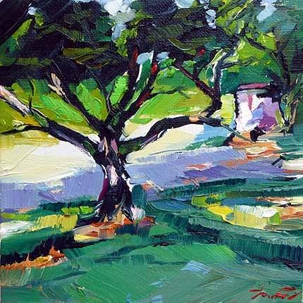 """Garten"" original fine art by Jurij Frey"