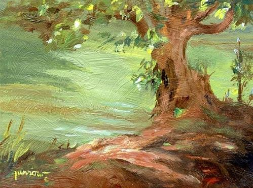 """""""ORIGINAL PAINTING FROM MEMORY AND SKETCHES"""" original fine art by Sue Furrow"""