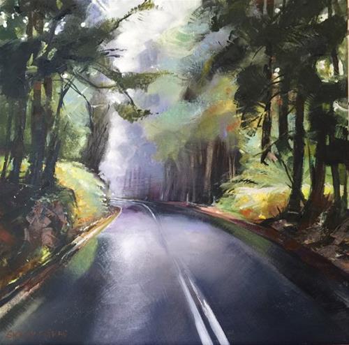 """Summer Road"" original fine art by Shirley Peters"