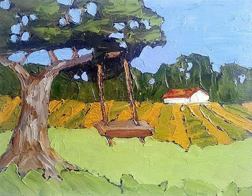 """Farm Swing"" original fine art by lynne french"