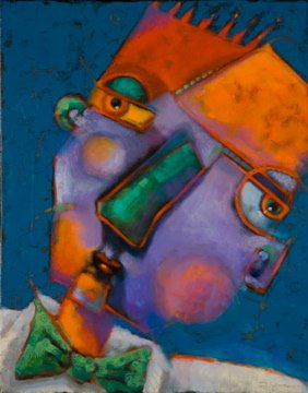 """Guys In Ties #6, Simple Man"" original fine art by Brenda York"