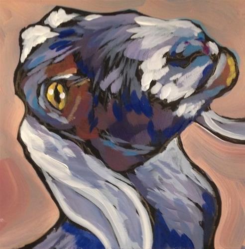 """Goat Grin"" original fine art by Kat Corrigan"