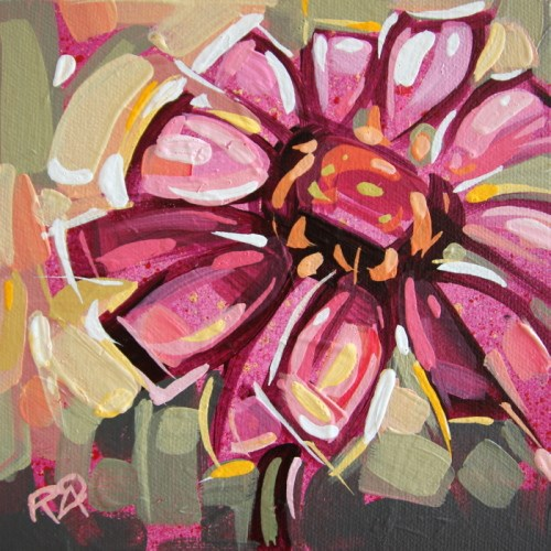 """Flower Abstraction 191"" original fine art by Roger Akesson"