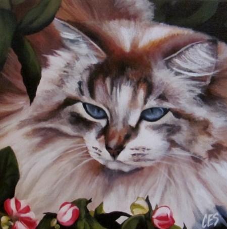 """""""In The Garden"""" original fine art by ~ces~ Christine E. S. Code"""