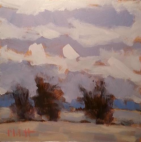 """Cozy Gray Landscape Original Oil Painting"" original fine art by Heidi Malott"