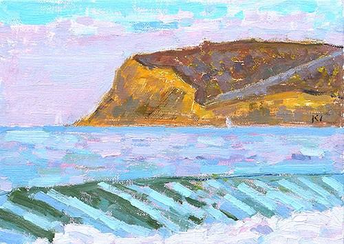 """""""Coronado Beach Plein Air"""" original fine art by Kevin Inman"""