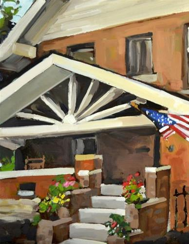 """""""The Porch of July"""" original fine art by Jessica Green"""