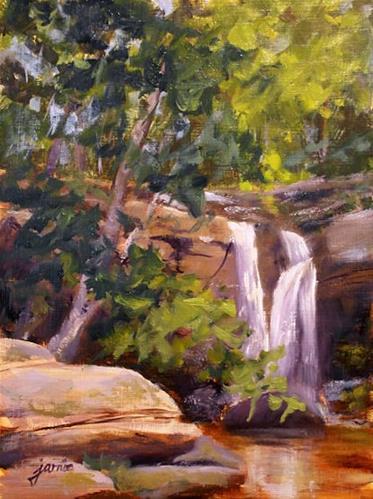 """Beating the Heat at Old Mills Falls"" original fine art by Jamie Williams Grossman"