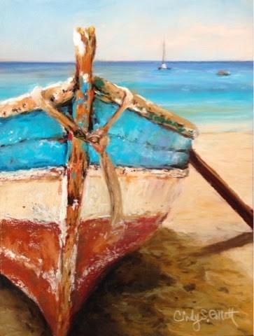 """""""Beach Bum 2"""" original fine art by Cindy Gillett"""