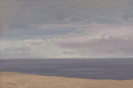 """October Seascape"" original fine art by Abbey Ryan"