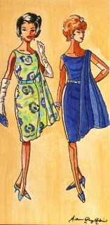"""Vintage Sixties Gals"" original fine art by JoAnne Perez Robinson"