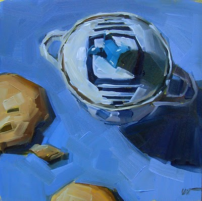 """""""Sugar Bowl --- SOLD"""" original fine art by Carol Marine"""