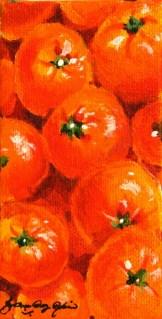 """""""Orange Vitamin Sea"""" original fine art by JoAnne Perez Robinson"""