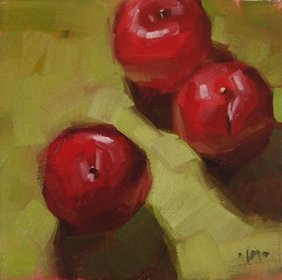 """Plums Three & kids"" original fine art by Carol Marine"