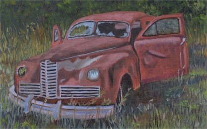 """Seen Better Days"" original fine art by Robert Frankis"