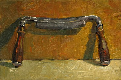 """Draw Knife"" original fine art by Raymond Logan"