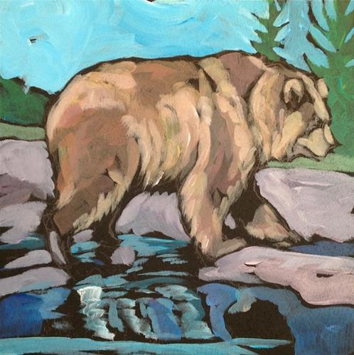 """Golden Bear"" original fine art by Kat Corrigan"