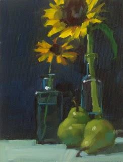 """Two Pair"" original fine art by Carol Marine"