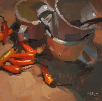 """""""Pepper Cups"""" original fine art by Carol Marine"""