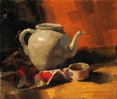 """Waiting --- Sold"" original fine art by Qiang Huang"