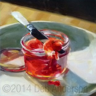"""""""Oil Painting: Strawberry Jam"""" original fine art by Deb Anderson"""